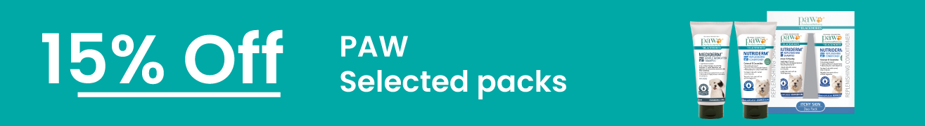 PAW 15% Off Selected packs