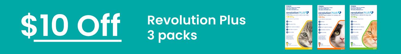 Revolution Plus $10 Off 3 Packs