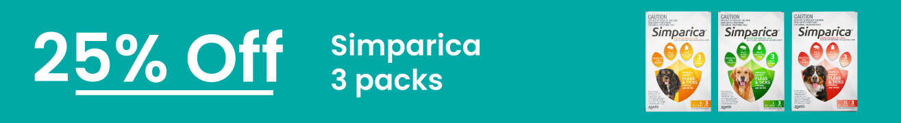 Simparica 25% Off 3 packs