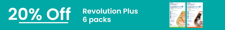 Revolution Plus 20% Off 6 Packs