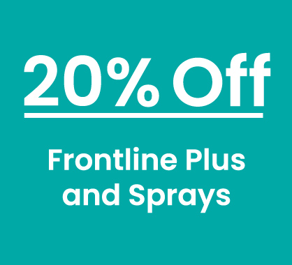 Frontline Plus and Sprays 20% Off 6 and 12 Packs