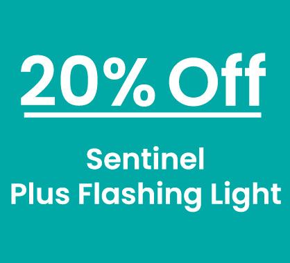 Sentinel 20% Off 6 packs Plus Flashing Light