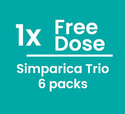 Simparica Trio 6+1 Free Doses