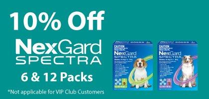 10% Off NexGard Spectra 6 & 12 Packs